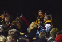 Missouri Athletic Director Mike Alden (yellow hoodie) watches the Missouri softball team from the left field stands on Thursday, May 1, 2014 at University Field in Columbia, Mo.