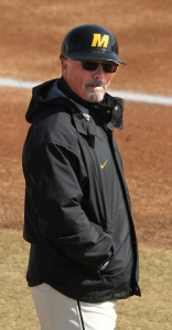 Missouri baseball coach Tim Jamieson, bundled up for a cold March game, could be on the hot seat now.
