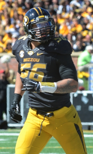 Missouri defensive end Shane Ray finished the day with wo sacks and four tackles for loss.